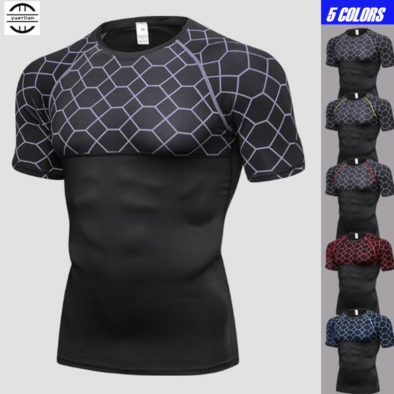 100 P Männer Pro Wicking & Quick Dry T-shirt, Elastin Kompression Fitness Dichten Boden Kurzarm Unterwäsche, Atmungsaktive & Anti Falten