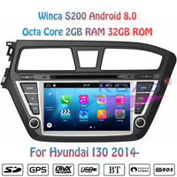 Winca S200 Android 8.0 Car Multimedia DVD Player For Hyundai I20 2014 2015 Stereo GPS Navigation Autoradio Magnitol Double Din