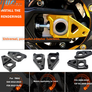 Image 2 - Motorcycle Accessories Chain Adjusters Tensioners Chain Adjuster Fits For YAMAHA FZ8 Tmax 530 TMAX 530 12 15 FZ1 YZF R1 CNC