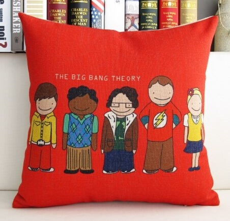 Cu053 Crative Printed Film Bang Theory Around Linen Car Home Ornament No Filling Case Cushion Promotion Whole In From Garden On