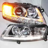OEM LED headlight for Audi A6L 2005 2011 WITH D3S HID kit