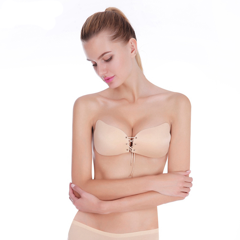 0397b76a055 Women Bra Invisible Strapless Bra Push Up Silicone Women s Bras Intimates  bras Cup A B C D DD