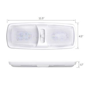 Image 2 - 18LED Car Interior Dome Light Ceiling Lamp LED Reading Light for 12V Marine Yacht RV Camper Motor Home
