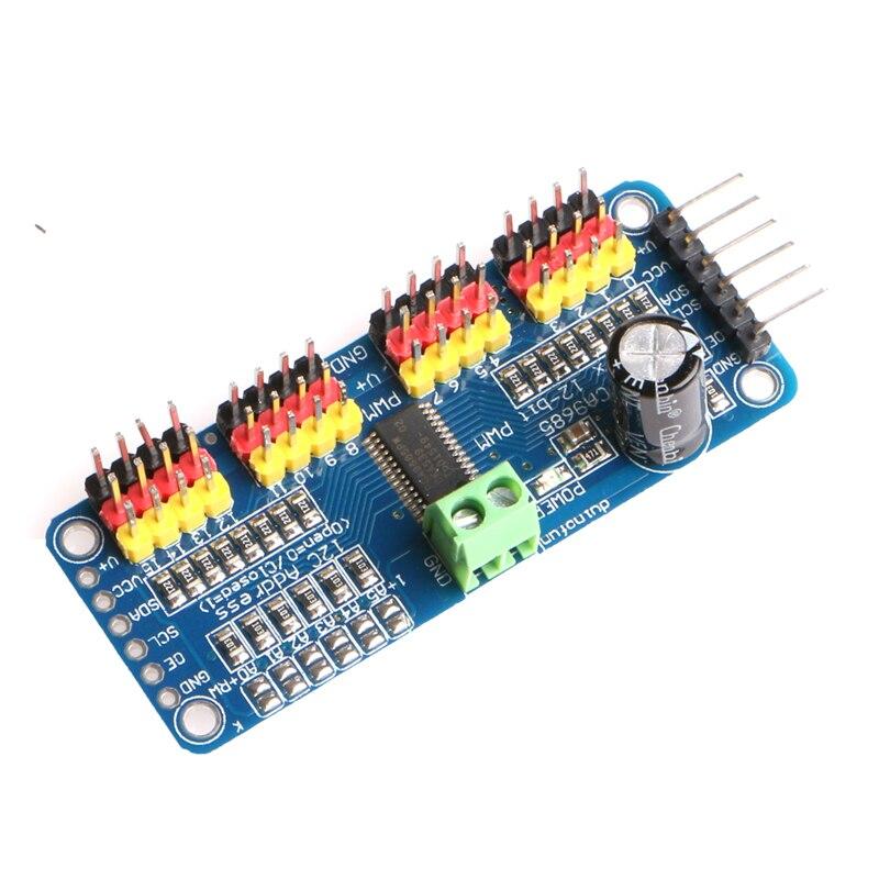 OOTDTY PWM Servo Driver I2C 16 Channel 12 Bit Module For Arduino Raspberry Pi Robot
