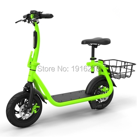 Trottinette électrique 2 roues avec panier et siège vélo pliable de Type pédale auto-équilibrage planche à roulettes électrique