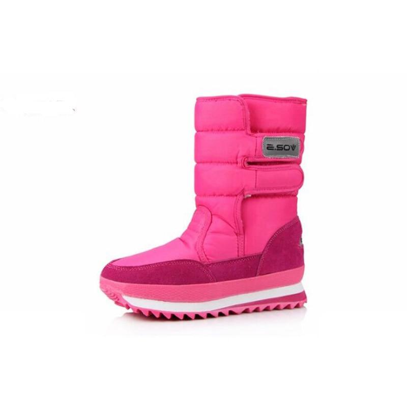 2016 popular snow boots flat heel plus size