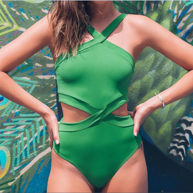 Sexy Women Bodysuit Hang Neck Cross Bandage Hollow Backless Sleeveless Bodysuit Romper Summer Solid Color Fashion Jumpsuit Hot