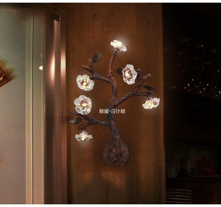 Americain Pays Arbre Fleur Led Mur Lampe Bureau Chambre De Chevet
