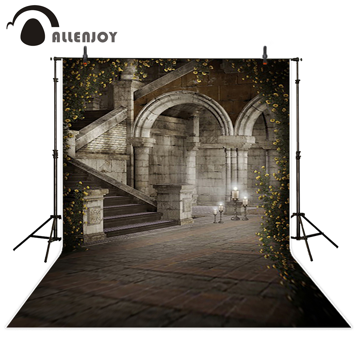 Allenjoy Background for font b photo b font Stairs indoors flower vintage arches palace Background for