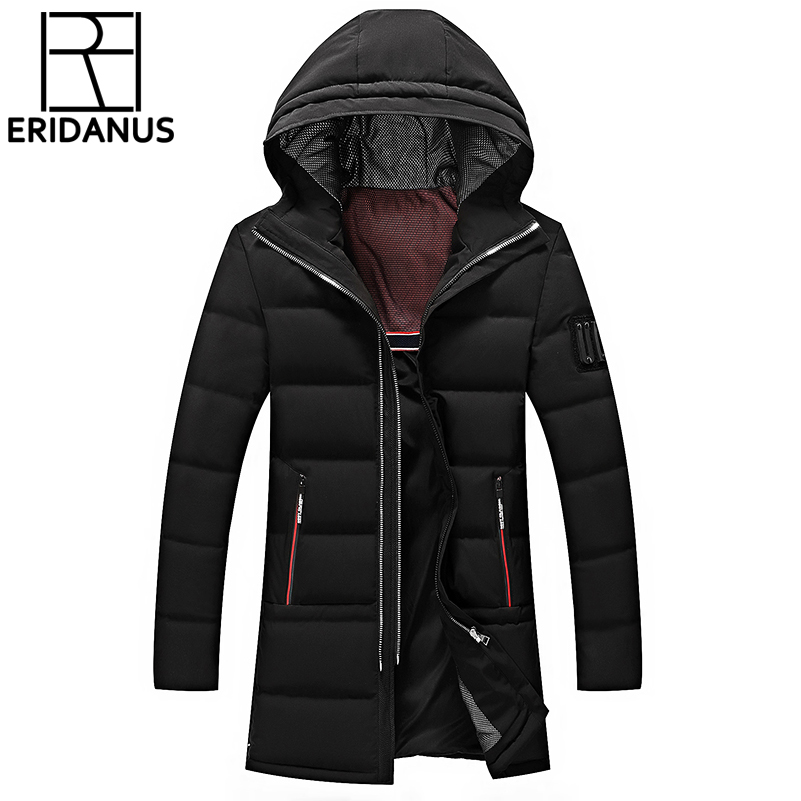 Winter Jacket Men Brand White Duck Down Long Jackets High Quality Hooded Down Coat Thick Warm Coats OverCoat M595