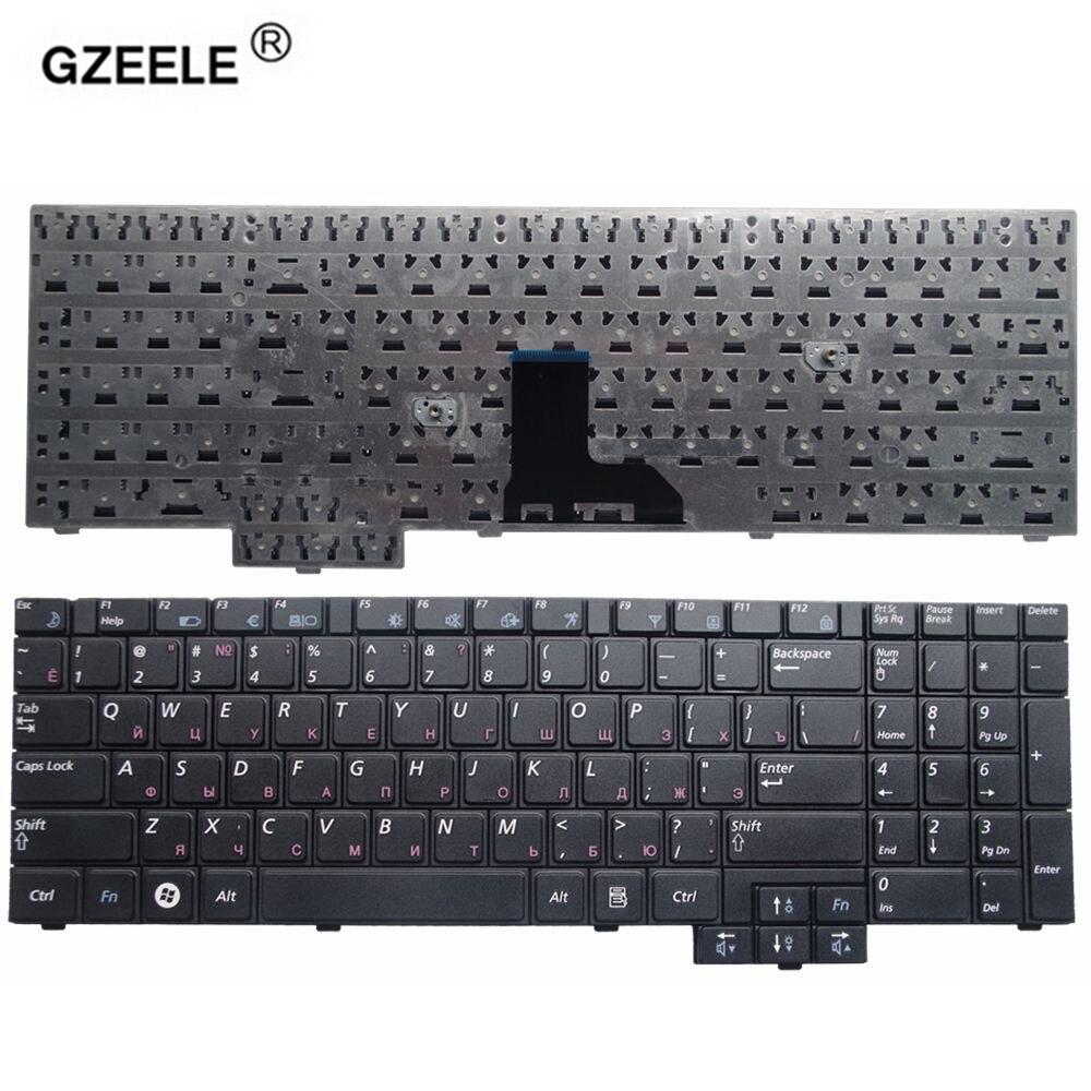 GZEELE NEW RU Teclado do portátil para Samsung R525 R519 NP-R519 R719 NP-R719 R618 R538 P580 R528 R530 RU Preto Substituição russa