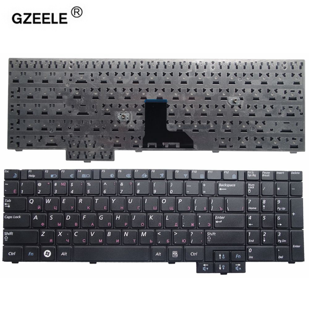 GZEELE NEW RU Laptop Keyboard For Samsung R525 R519 NP-R519 R719 NP-R719 R618 R538 P580 R528 R530 RU Black Replacement Russian
