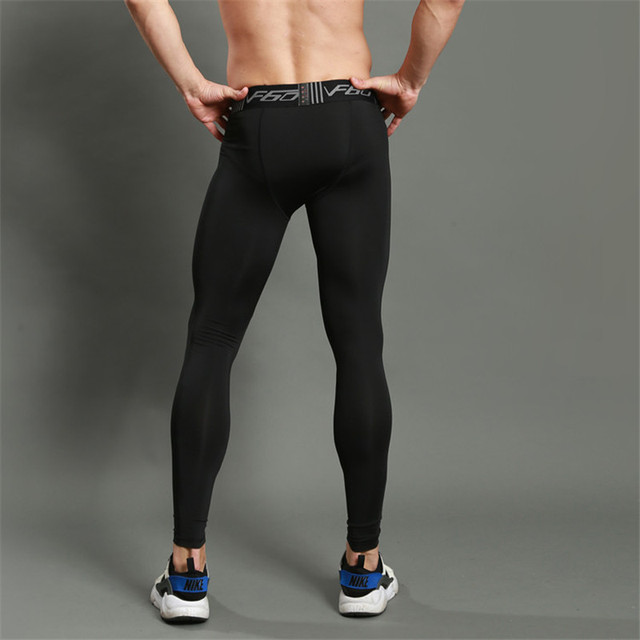 Men Gym Sport Running Training Exercise Pants High Elastic Tight Skinny Fitness Workout Pants Trousers Leggings Pants Running Tights