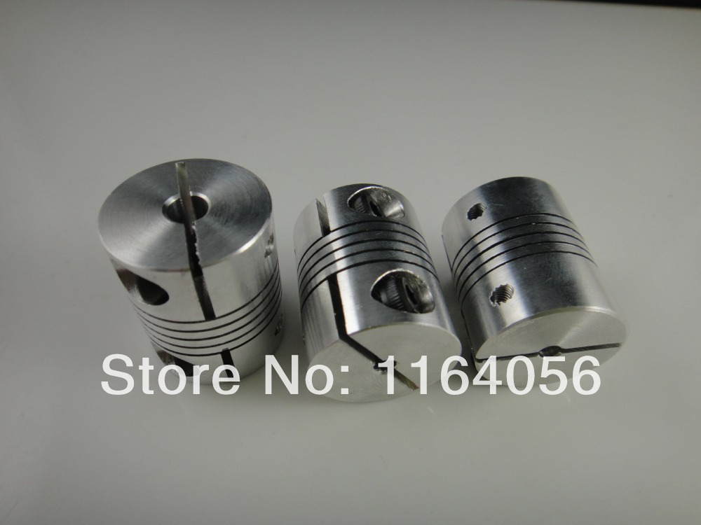 ID5 6 6.35 8 10 12mm D25*L30 Flexible Shaft Coupling Clamp CNC Starter Shaft Coupler Connector image