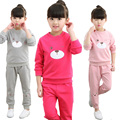 Baby Girls Clothing Sets Cartoon 2017 Spring Kids Wear Cotton Casual Tracksuits 2pcs Children Clothes Sports Suit