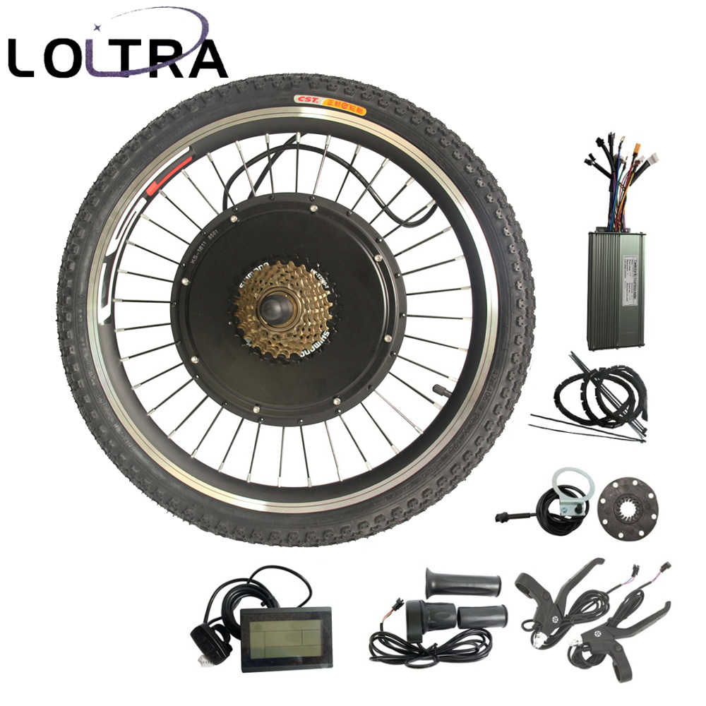 48V 1500W ebike kit Electric bike conversion kit without Battery LCD  display 20 24 26 27 5 28 29 700C Electric Bicycle Motor