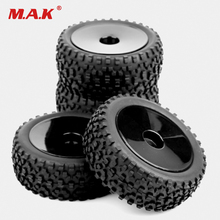 4pcs set 1 10 Buggy Tires Front and Rear Rubber Tyre Wheel Rim 25026 27011 Fit