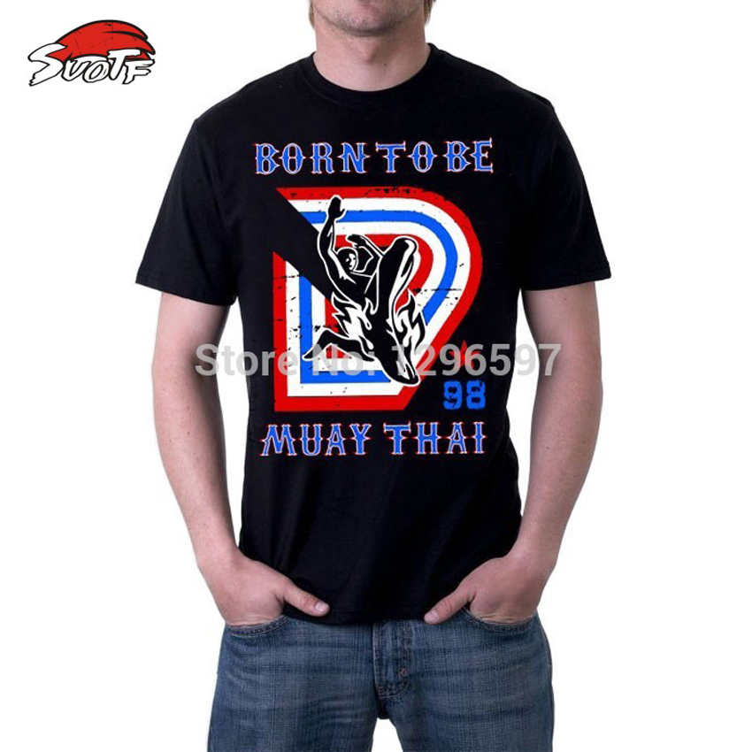SUOTF Hot Sale! MMA Fighting Sweatshirt Men Cage Crown T Shirts Boxing Muay Thai Sweatshirt Mens XXL Hight Quality Cotton Tee