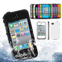 For Apple IPhone 4S 4 4G Heavy Duty Waterproof Snowproof Shockproof Rigid Plastic Case Cover Cell