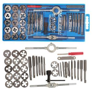 40pcs Metric Alloy Steel Tap & Die Set M3 M4 M5 M6 M8 M10 M12 Screw Thread screw Plugs Taps with Wrench Broaching Hand Tools Set(China)
