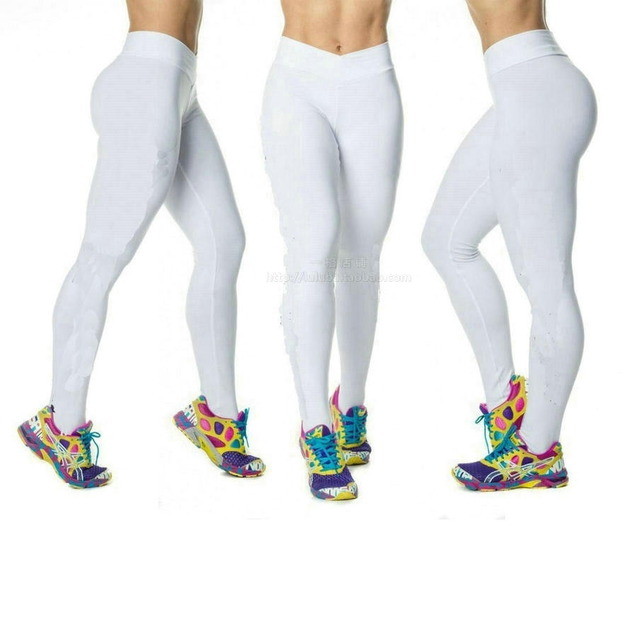 White Gym Leggings - The Else