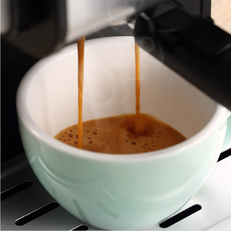Espresso Machine Semi-automatic Drip Coffee Pumped Steamed Milk Foam Household 25 Second Fast Extraction Noise Reduction Mute