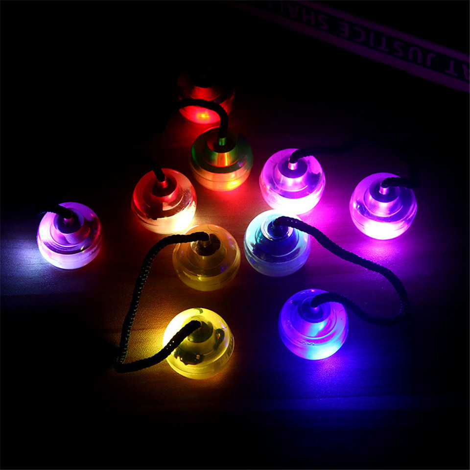 Led colorful lights fingertips yo yo ball decompression funny Bundle Control Roll Game K ...