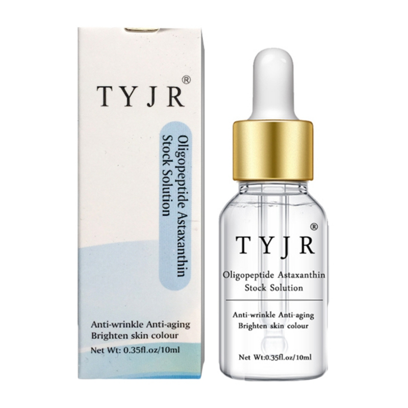 Face Oligopeptide Astaxanthin Stock Solution Hydrating Smooth Fine Lines Anti-Wrinkle Anti-Aging Serum Makeup New