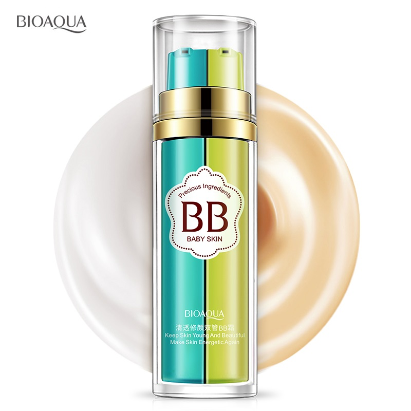 bioaqua makeup bb cream,foundation,bb and foundation in one bottle,base, natural bband cc cream keep skin young and bea image
