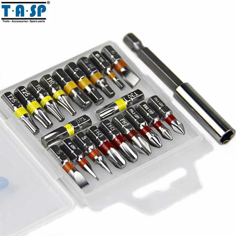 Set di punte per cacciavite con codice colore TASP 20pz Testa - Utensili manuali - Fotografia 2