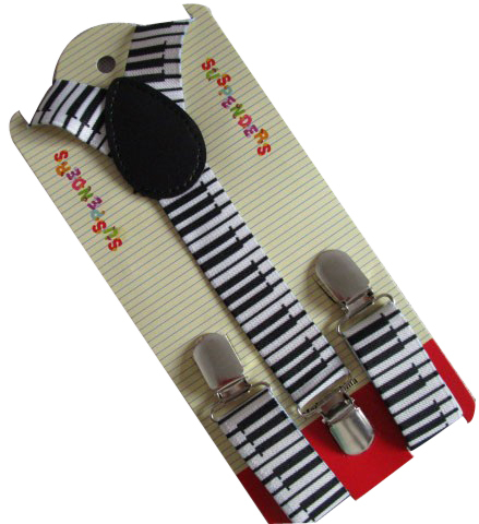 Free Shipping 2019 New Cute Adjustable 1 Inch Children Black And White Keyboard Printed Suspenders Boys Girls Braces