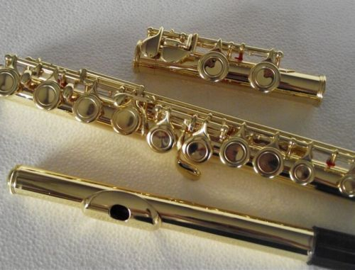 New Gold lacquer 16 closed hole flute C key +E new gold lacquer 16 closed hole flute c key e