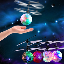 RC Flying Ball Drone Helicopter Ball Built-in Shinning LED Lighting for Kids Teenagers Colorful Toys  Children Xmas Gifts