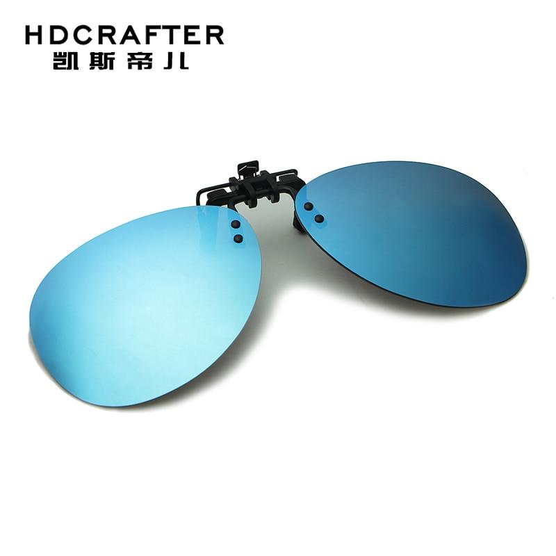 b9957078b8 Hdcrafter polarizó el clip en Gafas de sol conducir visión nocturna lente Sol  Gafas anti-UVA mujeres hombres oculos gafas de sol 6 colores