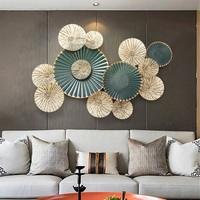 3D Stereo Wrought Iron Round Shape Wall Decoration Art Home Livingroom Kitchen Painting Wall Mural Modern R647