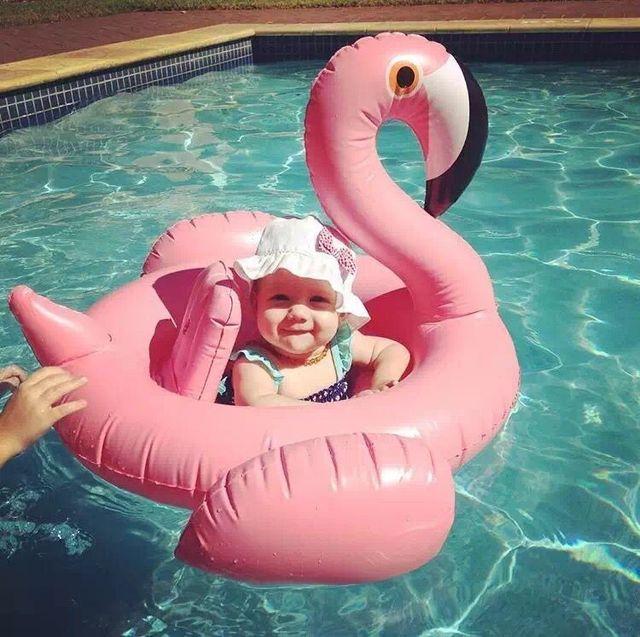 Acessórios De Natação Piscina Piscina Inflável do bebê Swimtrainer Anel Estilo Cisne Assento Float Voltas