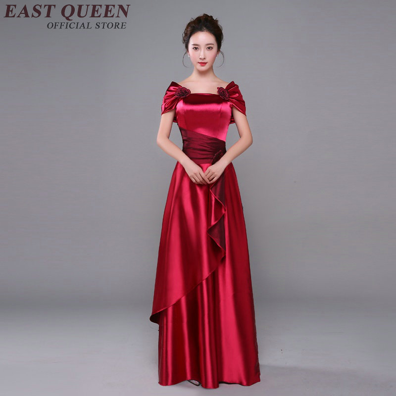 Long evening party dress opera performance clothing national dance gold host dress woman stage dance wear XS 4XL AA2803 YQ