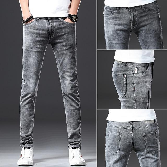 Jantour Skinny Jeans men Slim Fit Denim Joggers Stretch Male Jean Pencil Pants Blue Men's jeans fashion Casual Hombre new 2
