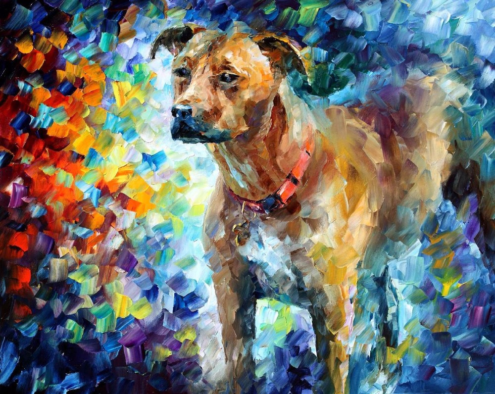 Aliexpress Buy Painting For Sale Colorful Oil Paintings Canvas Dog III Modern Wall Art Home Decor High Quality Handpainted From Reliable Decorative