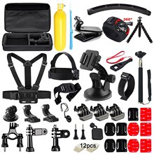 FeoconT 50 in1 Action Camera Accessories Kit for GoPro Hero 5 4 3+ 3 2 1 with Carrying Case/Chest Strap/Octopus Tripod