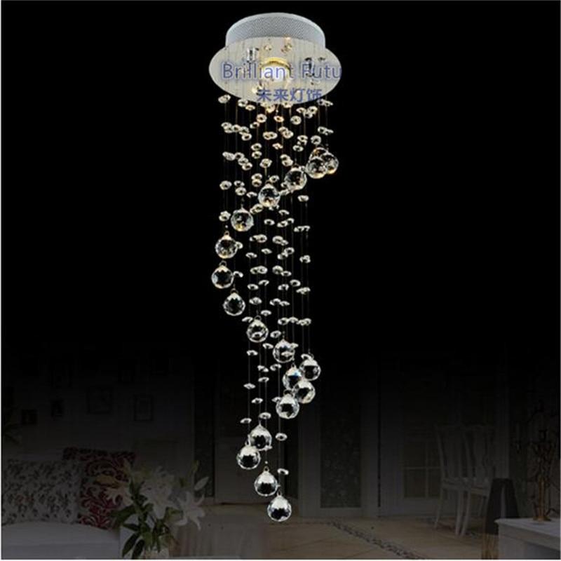 LED 3 COULEUR K9 Cristal pendentif lumières LED Clair Waterford Sphère Spirale LED Cristal Éclairage Lustre Lampe De Plafond Suspension Lampe