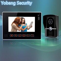 Yobang Security freeship 9 Inch Video Door Phone Doorbell Intercom Kit 1-camera 1-monitor Night Vision Wired Video Intercom