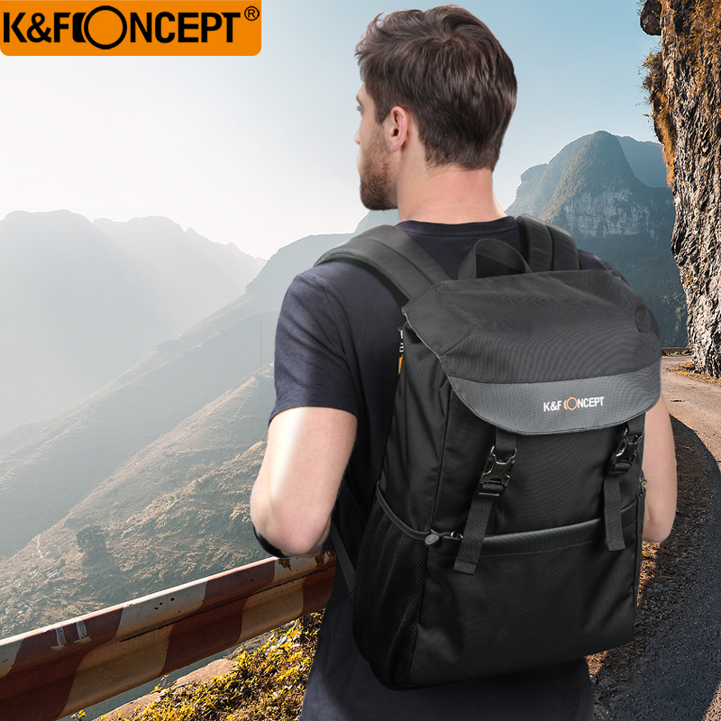 K F CONCEPT Multifunction Foldable Black Camera backpack waterproof bag DSLR SLR bag for Nikon Canon