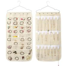 Hang necklaces closet organizer Storage of Bag Double Sided Pockets Jewelry Hanging Display Non-woven