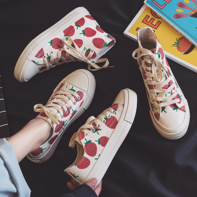Women Vulcanize Shoes High Top Canvas Shoes for Flats Female Casual Shoes