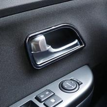 ABS Chrome trim door handle cover interior decoration ring sticker Car Accessories For Kia RIO K2 2011 2012 2013 2014 2015