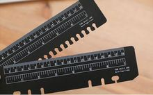 A6 A5 B5 A4 Loose-Leaf Bookmarks Ruler Black Transparent Color Ruler Bookmark Index Search Categories Gage cheap A5 B5 A6 A4 Plastic