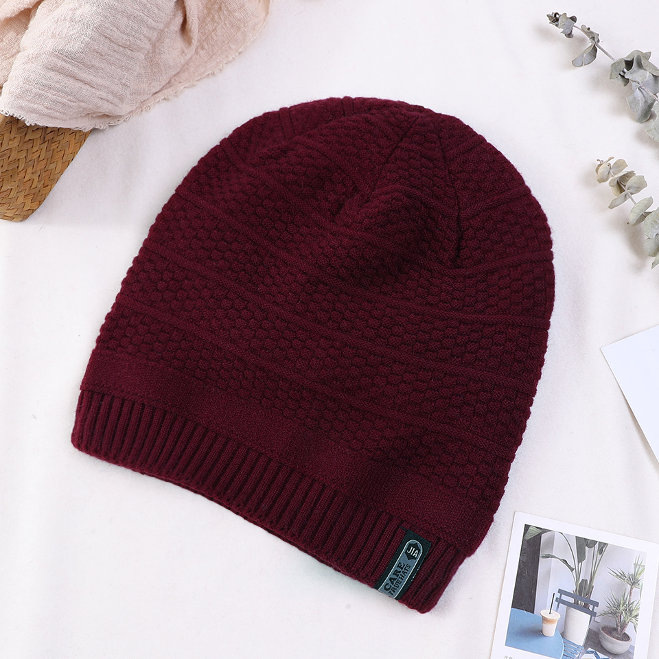 2018 Unisex Fashion Winter Knitted Hat Men Women Casual Warm   Skullies     Beanies   Thicken Lining   Beanie   Cap Outdoor Sports Hat