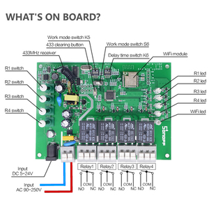 Image 2 - Itead sonoff 4ch pro r2 10a/gang 4 canais wifi interruptor inteligente 433mhz rf remoto wi fi interruptor de entrelaçar relé alexa