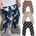 Veados Impressão Calças Do Bebê Crianças Desgaste do Verão do Algodão Das Meninas Dos Meninos Calças Compridas Casuais Harem Pants calças Para 0-4 T